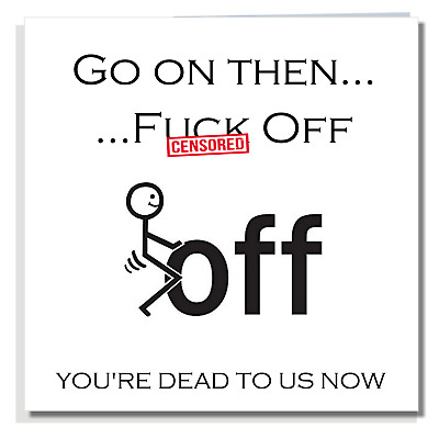 NEW JOB CARD Funny Rude Leaving Friend Office Colleague Work Mate Insult Q007