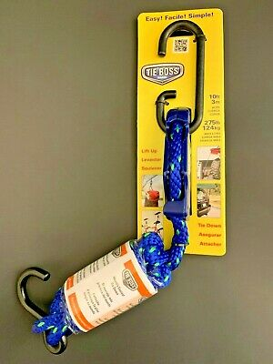 Tie Boss Tie down/Pulley with 10-Feet Rope, 3/8-Inch