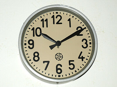 wall clock CHRONOTECHNA - Factory Railway School - collector's piece - vintage