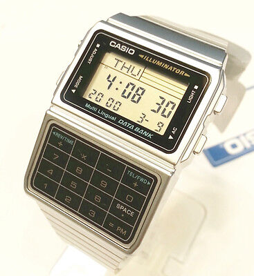 CASIO DataBank Watch SILVER tone DBC611  Multi-Lingual 5 Daily alarm 25 memory