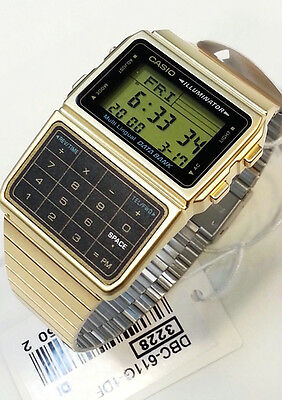 CASIO DataBank Watch GOLD tone DBC611G  Multi-Lingual 5 Daily alarm 25 memory