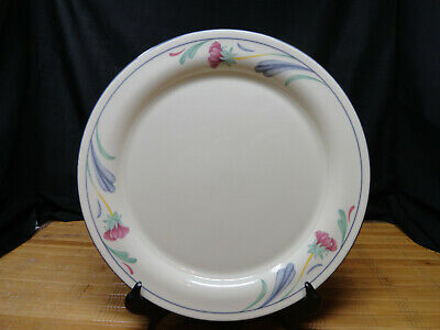 LENOX CHINASTONE POPPIES ON BLUE Dinner Plates, Set of 4, Fair Condition