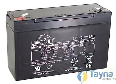 Leoch LP6-12 6V 12Ah Sealed Batterie