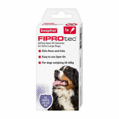 Beaphar Fiprotec Flea Tick Spot On with Fipronil for Extra Large Dogs 40-60Kg