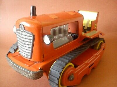 1960 OLD CHINA BATTERY OPERATED TIN TOY TRACTOR TRACK  ME#701 THE EAST IS RED Alle Artikel in Elektrisches Spielzeug