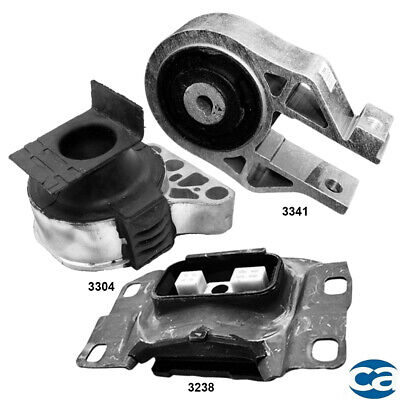 M107 Fits 2005-2007 Ford Focus 2.0L MANUAL Engine Motor /& Trans Mount Set 3pcs