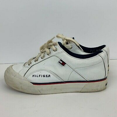 327976aabb9cc3 Tommy Hilfiger Mens Flag Logo Tennis Court Shoes Size 9.5 Vintage 90s  M04054S