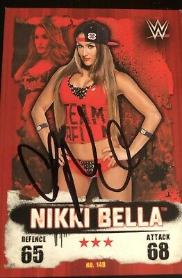 Nikki Bella - Wwe  - Hand Signed Topps Wwe Slam Attax Trading Card