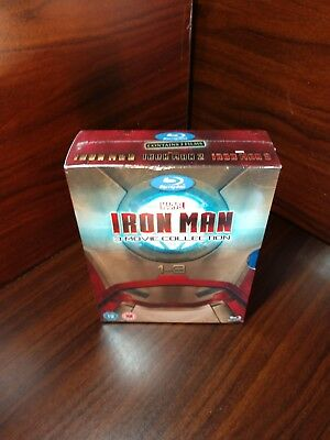 Iron Man 3 Movie Collection (Blu-ray,REGION FREE)Slipcover-NEW-Free SHIPPING