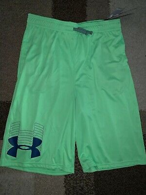 3e4b82d398f4b NWT Under Armour Tech Prototype Logo Athletic Shorts Neon Lime Green Youth  Xl