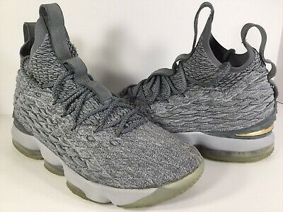 4566a057f06 NIKE LEBRON XV EP 15 Guardians Wolf Grey Gold City Edition Men Shoe ...