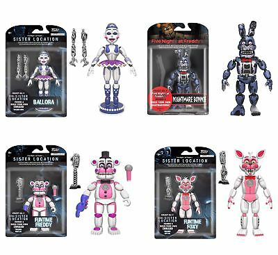 Five Nights at Freddy's Action Figures- Bonnie, Freddy, Foxy, Ballora -FREE P&P!