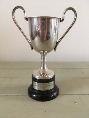 silver plate 1959 golf trophy, trophy, antique, trophies sporting trophy