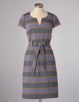 ecb6f4ba857 NEW BODEN NOTCH Shift Cotton Linen Striped WH458 Dress Size US 4 ...