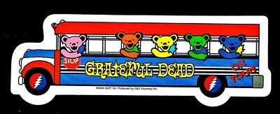 Grateful Dead Bears on the Bus Sticker Decal Jerry Garcia Hippie Rock n Roll