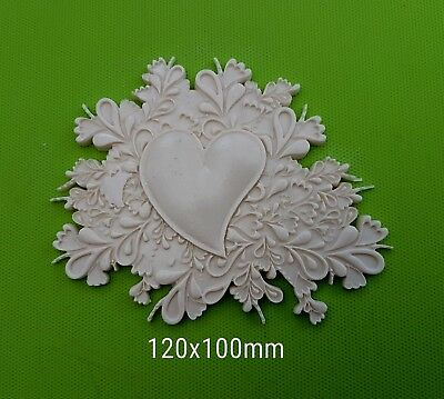 Decorative resin mouldings furniture applique shabby chic onlay plaque 141