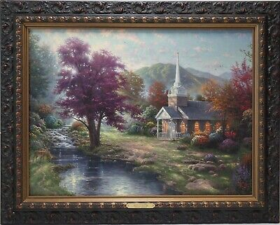 Thomas Kinkade Streams of Living Water 18x24 P/P Canvas Highlighted & Framed