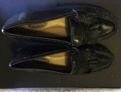 478baaafa74 DR. SCHOLLS Women s Black Leather Loafers Flats Shoes Size ...