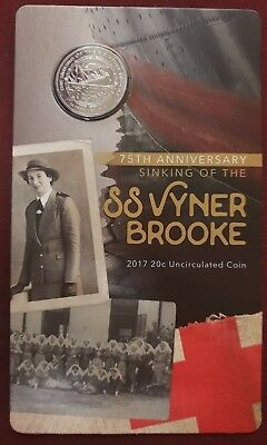 2013 Australia 20c 75th Anniversary Of The Sinking Of Ssvyner Brooke Unc Coin