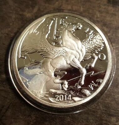 2015 Pegasus Freedom Coin 1 Troy Oz .999 Fine Silver Round Medal