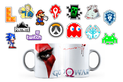 Pack de stickers y taza game