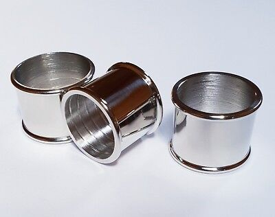 3 mixed BEADED NICKEL-SILVER COLLARS 25mm, 26mm & 27mm for Walking Stick Making