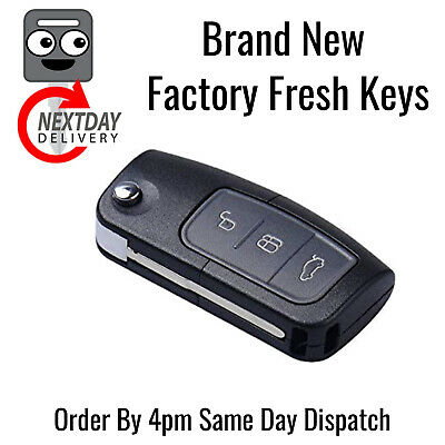 New Ford Transit Connect Fusion 3 Button Programmable Flip Key Fob Remote 433MHZ