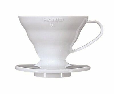 Hario VD-01W 1-Piece Plastic Coffee Dripper, White