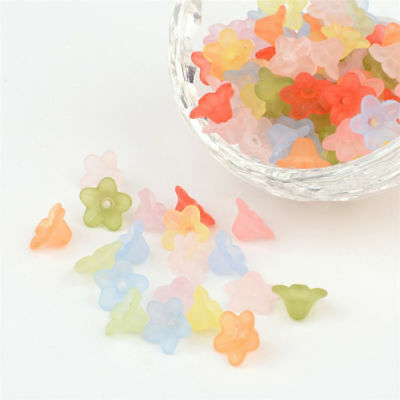100pcs Acrylic Flower Spacer Beads for Jewellery Making Mixed color 10mm