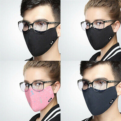 Popular Fog-free Glasses Face Mask Washable Cotton Anti-Dust Mouth Respirator