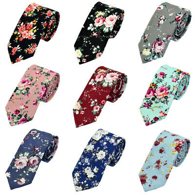 Men's 6CM Floral Flower Necktie Wedding Party Cotton Neck Ties Business Tie