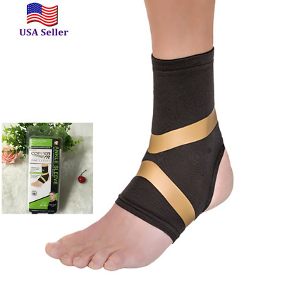7ae2d3c930 COPPER Fit PRO Compression Ankle Sleeve Arthritis Relief Motion Support  Brace