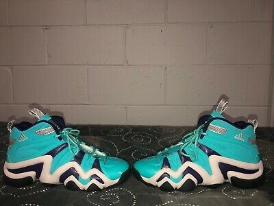 check out 14af3 6ac1f Adidas Crazy 8 Mens Basketball Shoes Size 10.5 Turquoise Purple Kobe Bryant