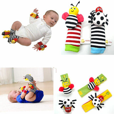 2016 NEW Insect Wrist & Foot Rattles For Infant/baby Finder Toys