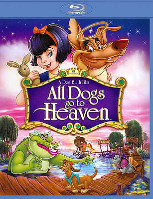 All Dogs Go to Heaven [Blu-ray] LIKE NEW DISC + COVER ARTWORK - NO CASE