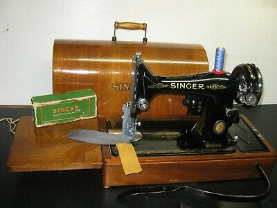 Original Singer Blue Logo 99 Electric Knee Operated Sewing Machine With Casing