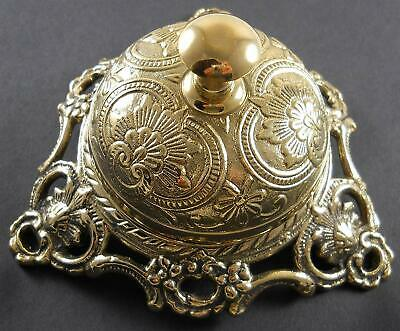 Antique Style Ornate Solid Brass Bell Hotel Counter Service Desk Call Service