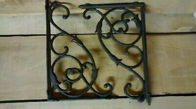 2 cast iron LARGE VINE Brackets for Garden or Home Heay duty Brown in Color.