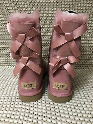 f5bd4d3f0e1 UGG SHORT BAILEY Bow Ii Pink Dawn Suede Sheepskin Boots Size Us 8 ...