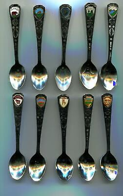 Native American Stamp  Souvenir Spoons # 179 Made In Japan Lot Of 10