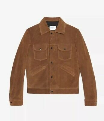 16b35637f55 AUTHENTIC SANDRO SUEDE Trucker Jacket XL Leather 52 Jeans Western ...
