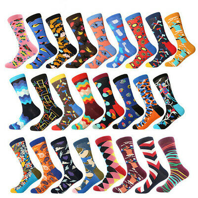 Mens Cotton Socks Novelty Modern Colourful Funny Unisex Casual Dress Socks 8-12
