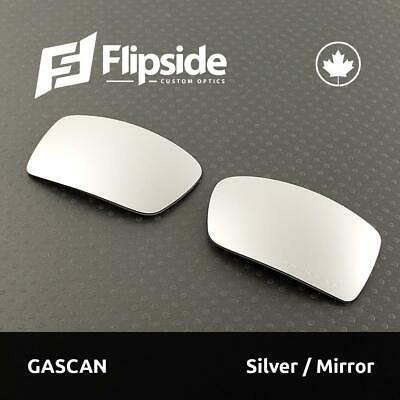 612df7edac59 FLIPSIDE OPTICS Polarized MIRROR Etched Replacement Lenses for OAKLEY GASCAN