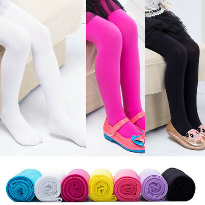 1PC Soft Ballet Dance Footed Tight Pantyhose For Girls Solid Color