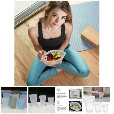3 Pcs Reusable Silicone Food Storage Bags Zip Top Leakproof Containers