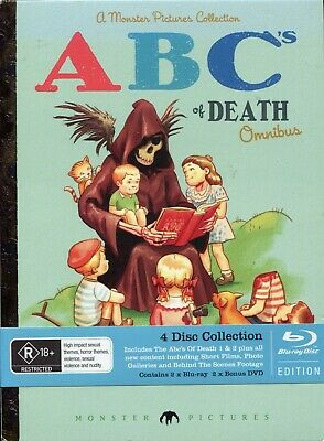 The ABC's Of Death (4 Disc Set) Omnibus Bluray Collector's Edition Region B