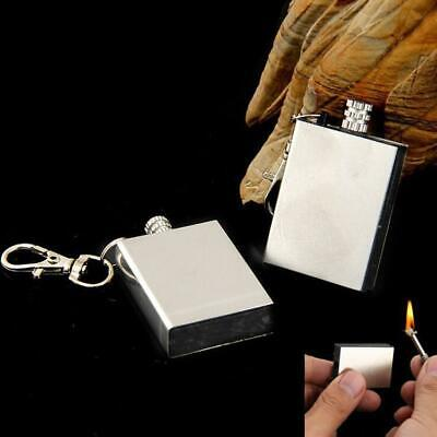 Permanent Metal Match Box Lighter Cigarette Camping Keyring Million lighter Kit