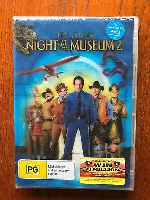 Night At The Museum 2 DVD Region 4 New & Sealed Ben Stiller, Amy Adams