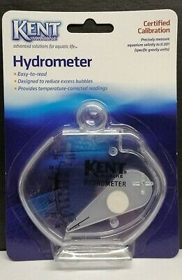 Kent Marine Hydrometer For Marine & Reef Aquarium Measures Salinity Easy To Read