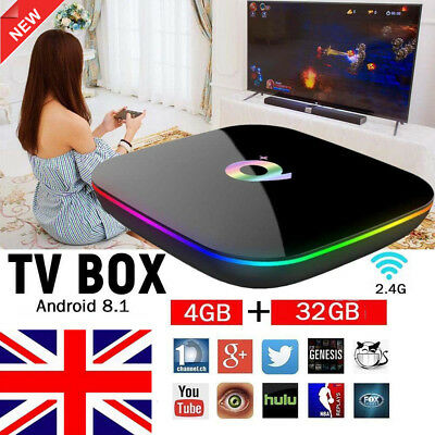 Newest Android 8.1 TV BOX 4GB+32GB Q Plus H6 Quad Core 4K HD Media Player H.265
